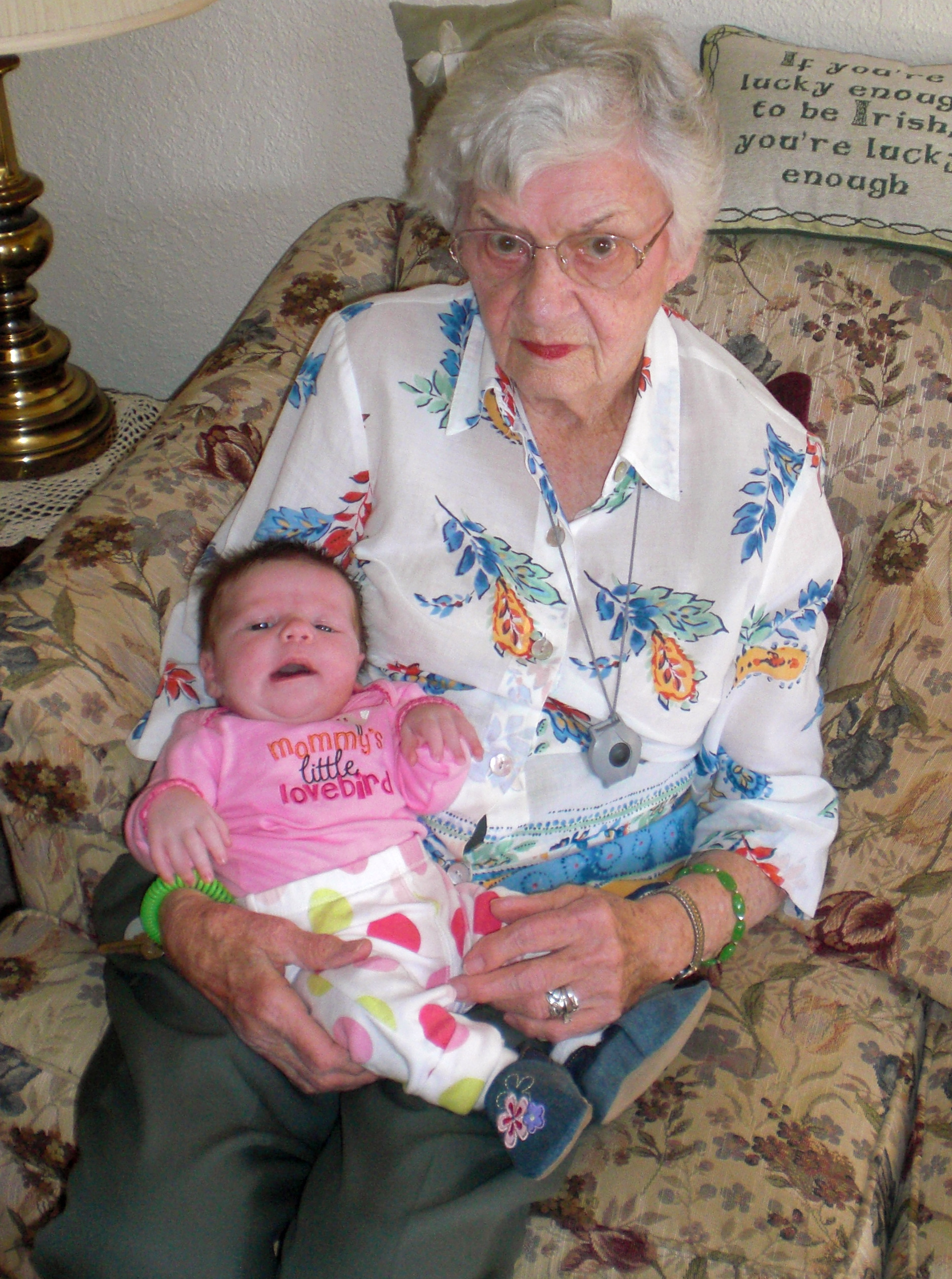 Grandma and Little K in Oct. 2010