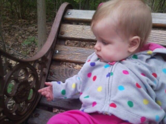 Little K finding peace in nature