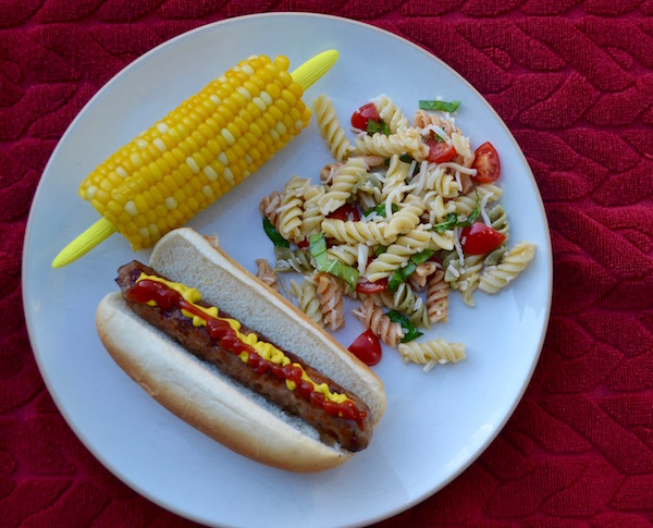 Pasta Salad with Grilled Foods