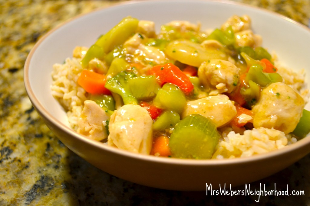 Chicken and vegetable stirfry