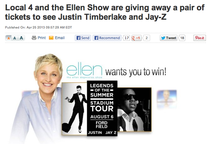 Win with Ellen on Local4