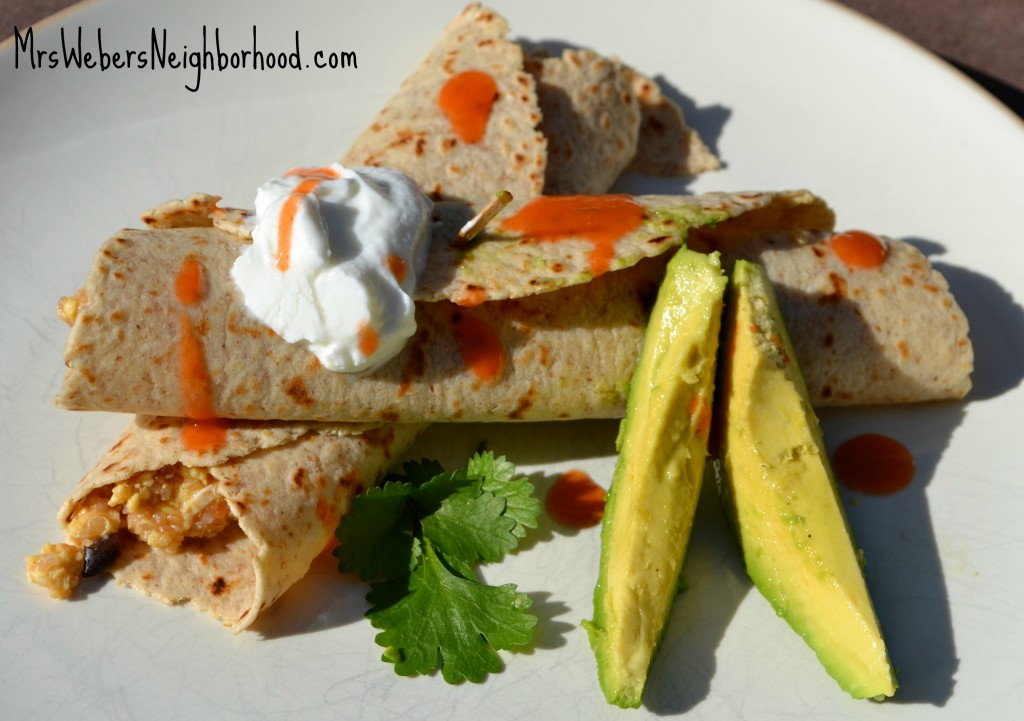 Protein Packed Breakfast Burritos from Mrs. Weber's Neighborhood