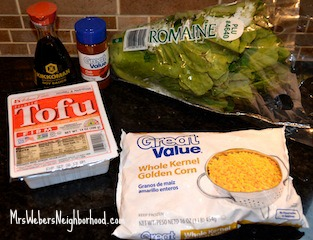 Tofu Lettuce Wraps - Ingredients