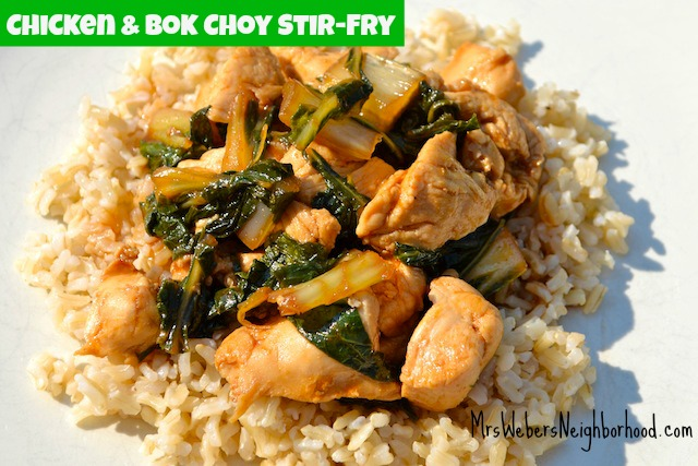Chicken and Bok Choy Stir-Fry Recipe - Mrs. Weber's ...