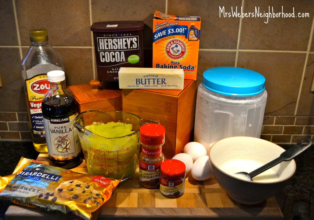 Chocolate Zucchini Cake Ingredients