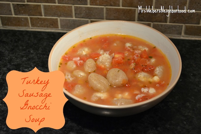 Turkey Sausage Gnocchi Soup