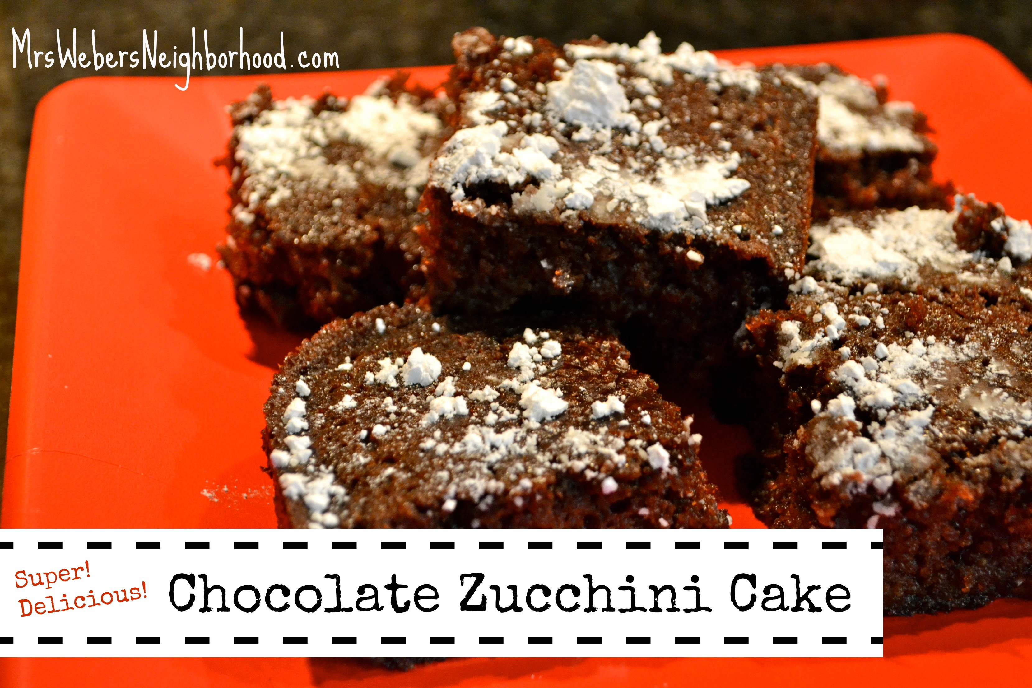 chocolate zucchini cake Archives - Mrs. Weber's Neighborhood