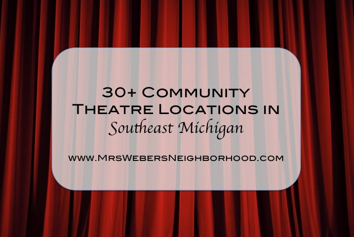 Community Theatre Locations in Southeast Michigan