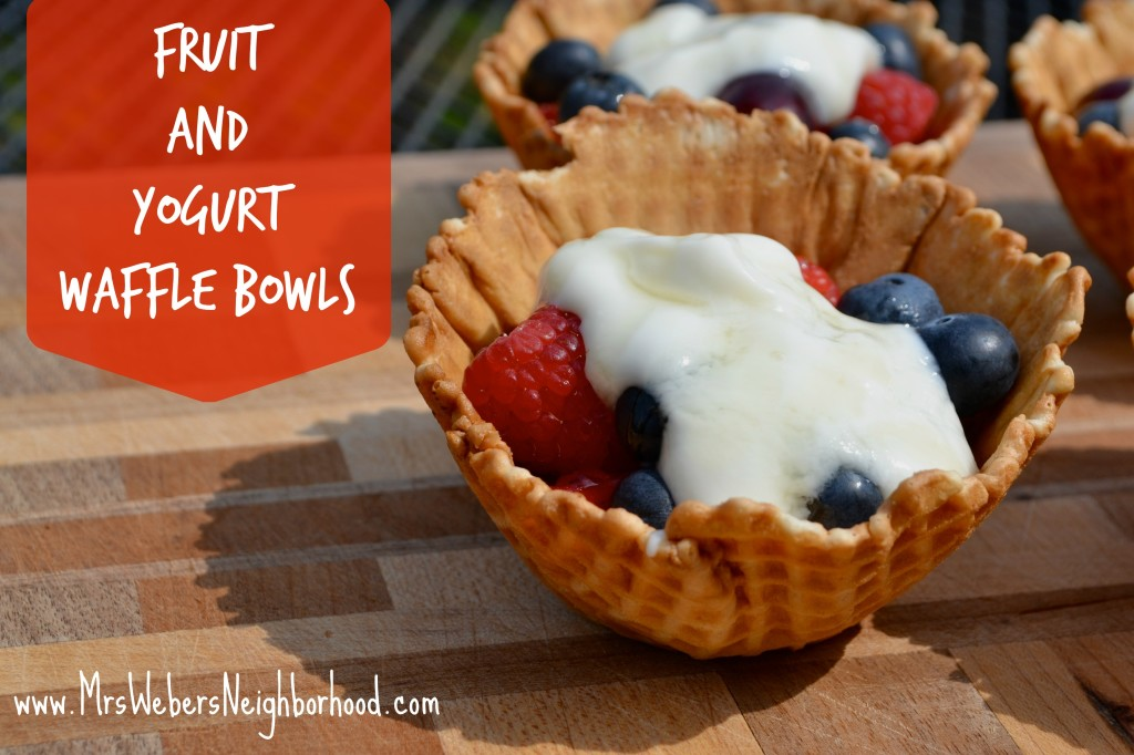 Recipe - Fruit and Yogurt Waffle Bowls
