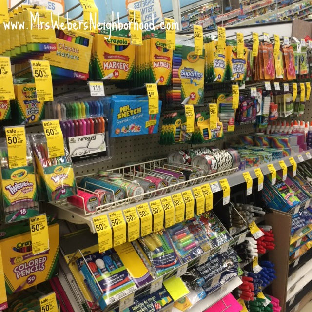 School Supplies at Walgreens