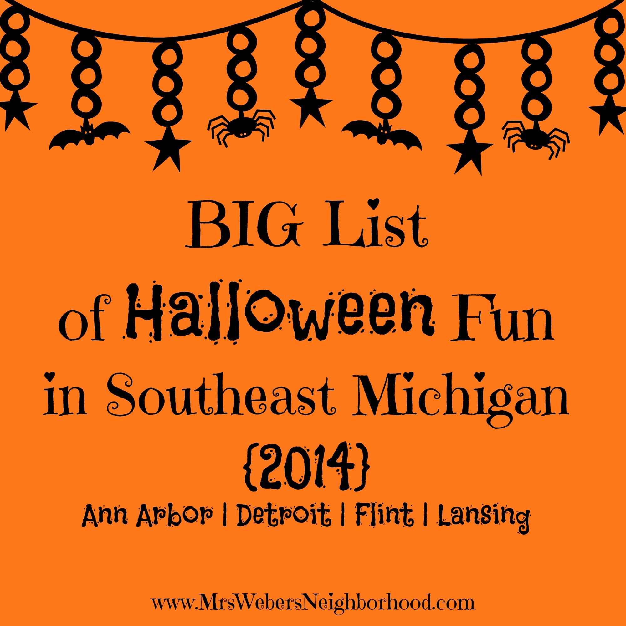 big list of halloween fun in southeast michigan 2014 - mrs. weber's