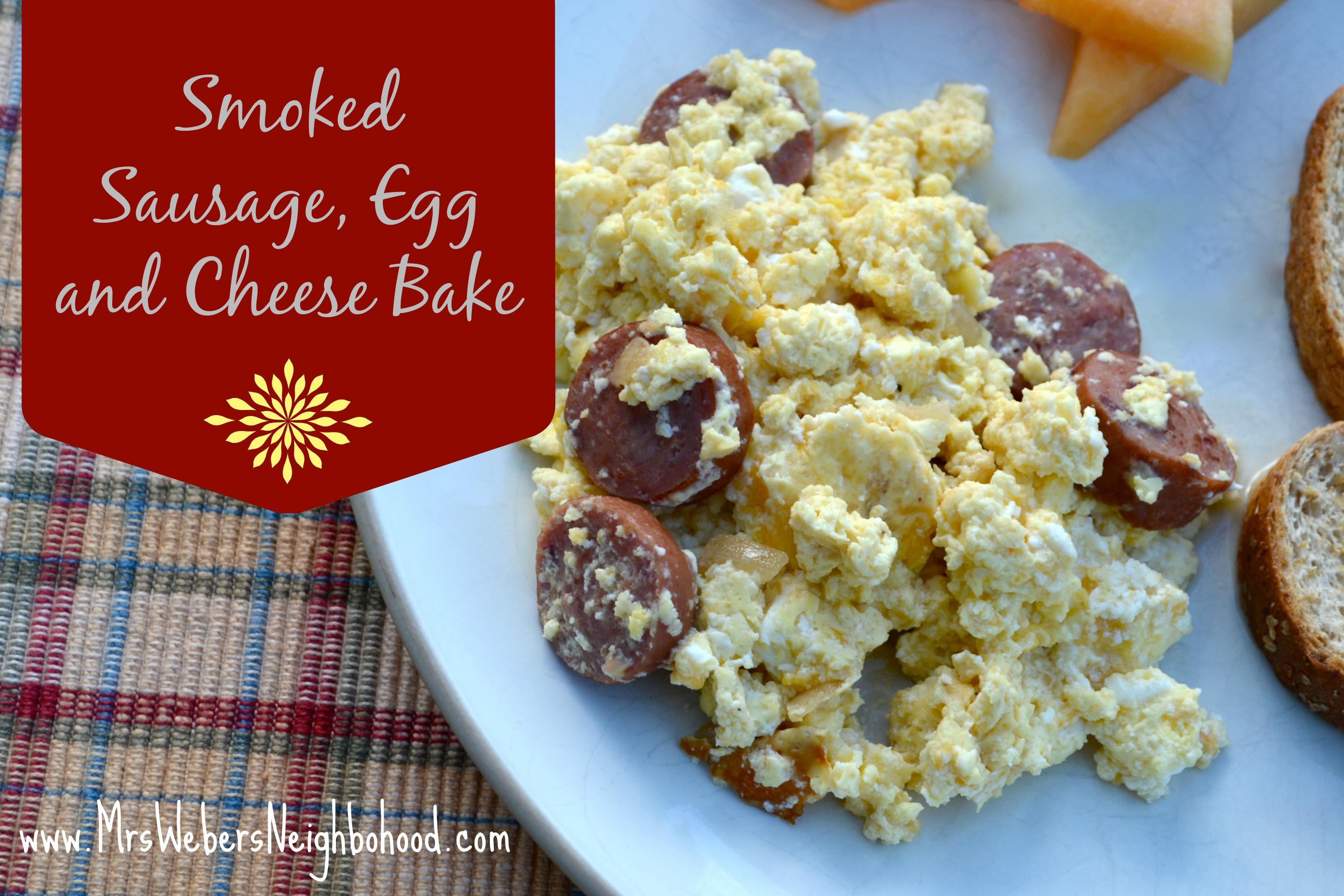 Brinner Idea Smoked Sausage Egg And Cheese Bake