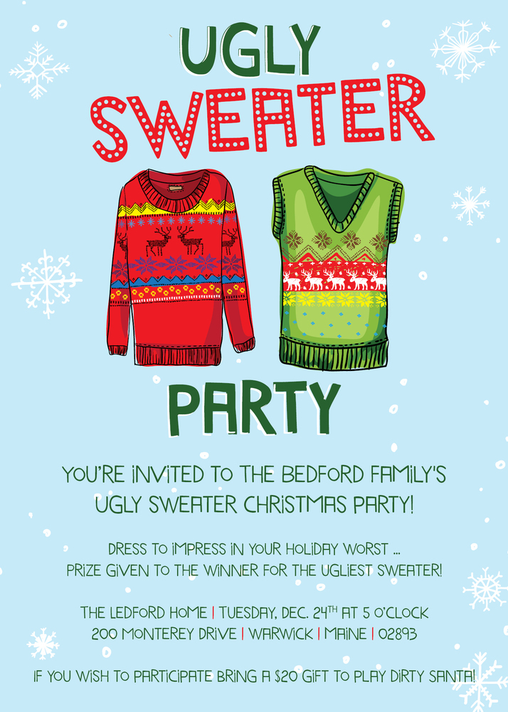 ugly sweater party invite by small moments - mrs. weber's neighborhood, Party invitations