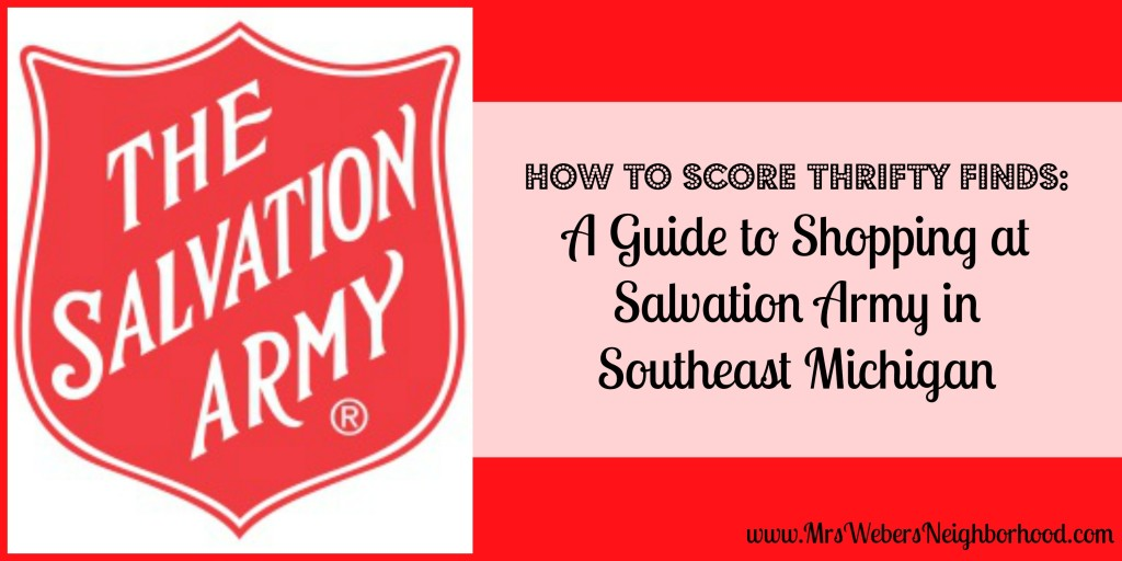 Guide to Shopping at Salvation Army in Southeast Michigan