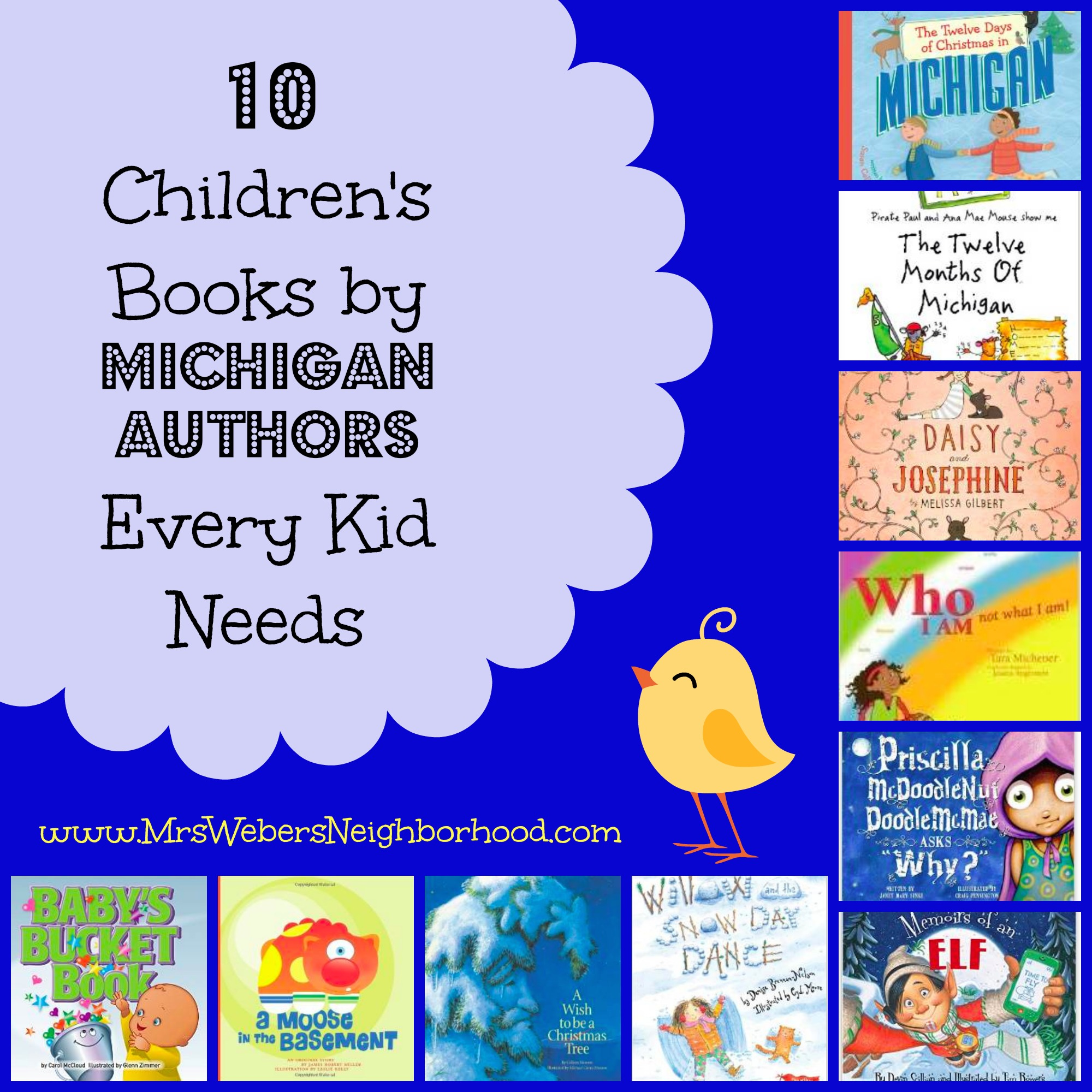 10 Children's Books by Michigan Authors