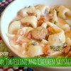 Crock Pot  Creamy Tortellini and Chicken Sausage Soup