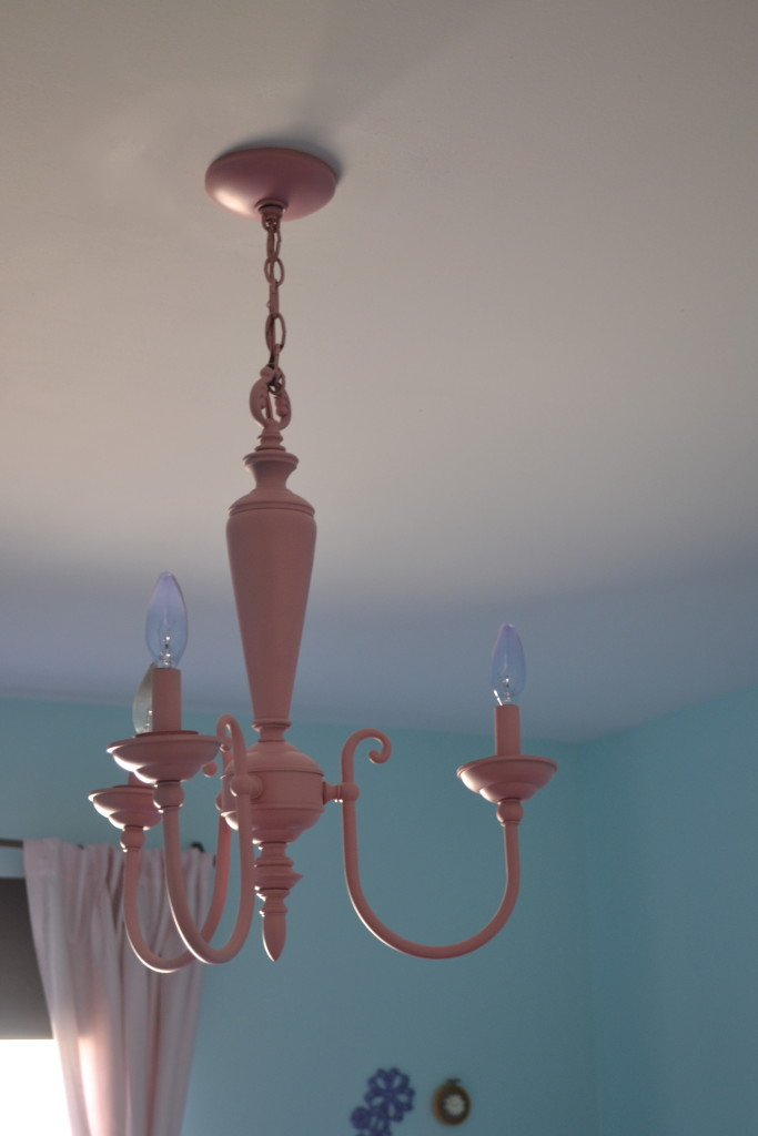 Repurposed Brass Chandelier