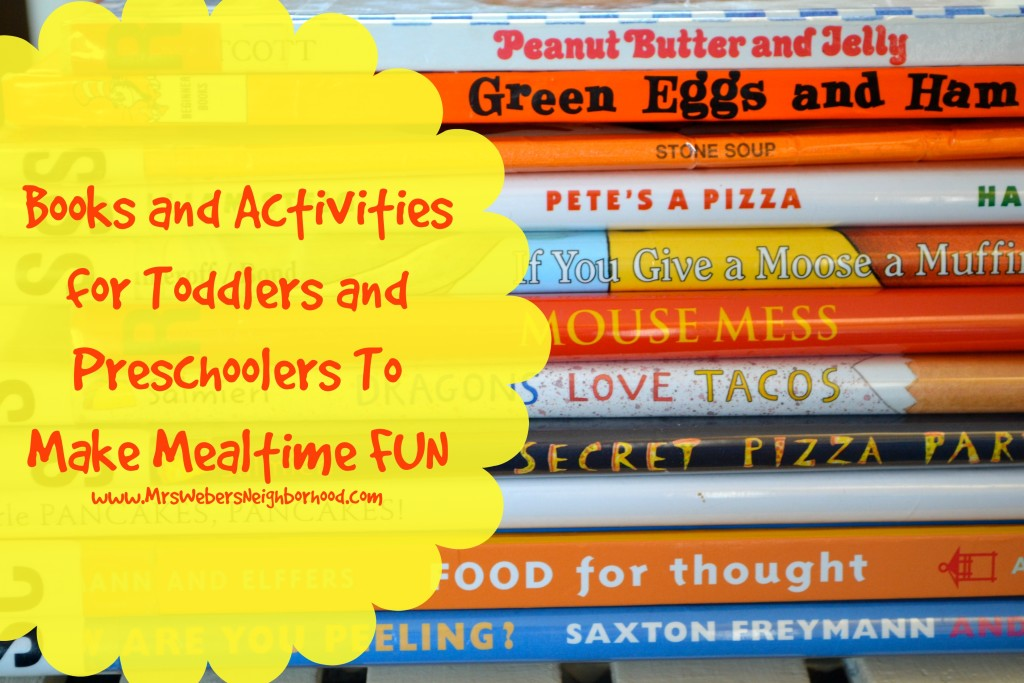 Books and Activities for Toddlers and Preschoolers To Make Mealtime FUN