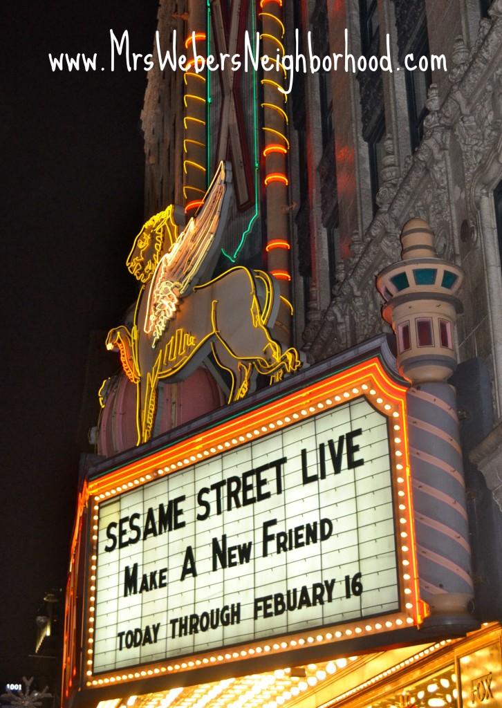 Sesame Street Live Sign