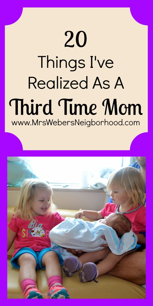 Things I've Realized as a Third Time Mom