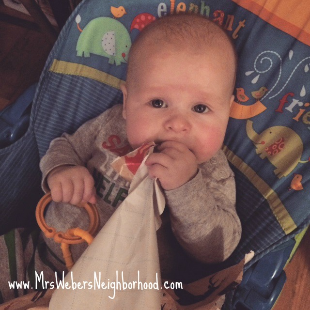 Things I've Realized as a Third Time Mom - Baby with wrapping paper