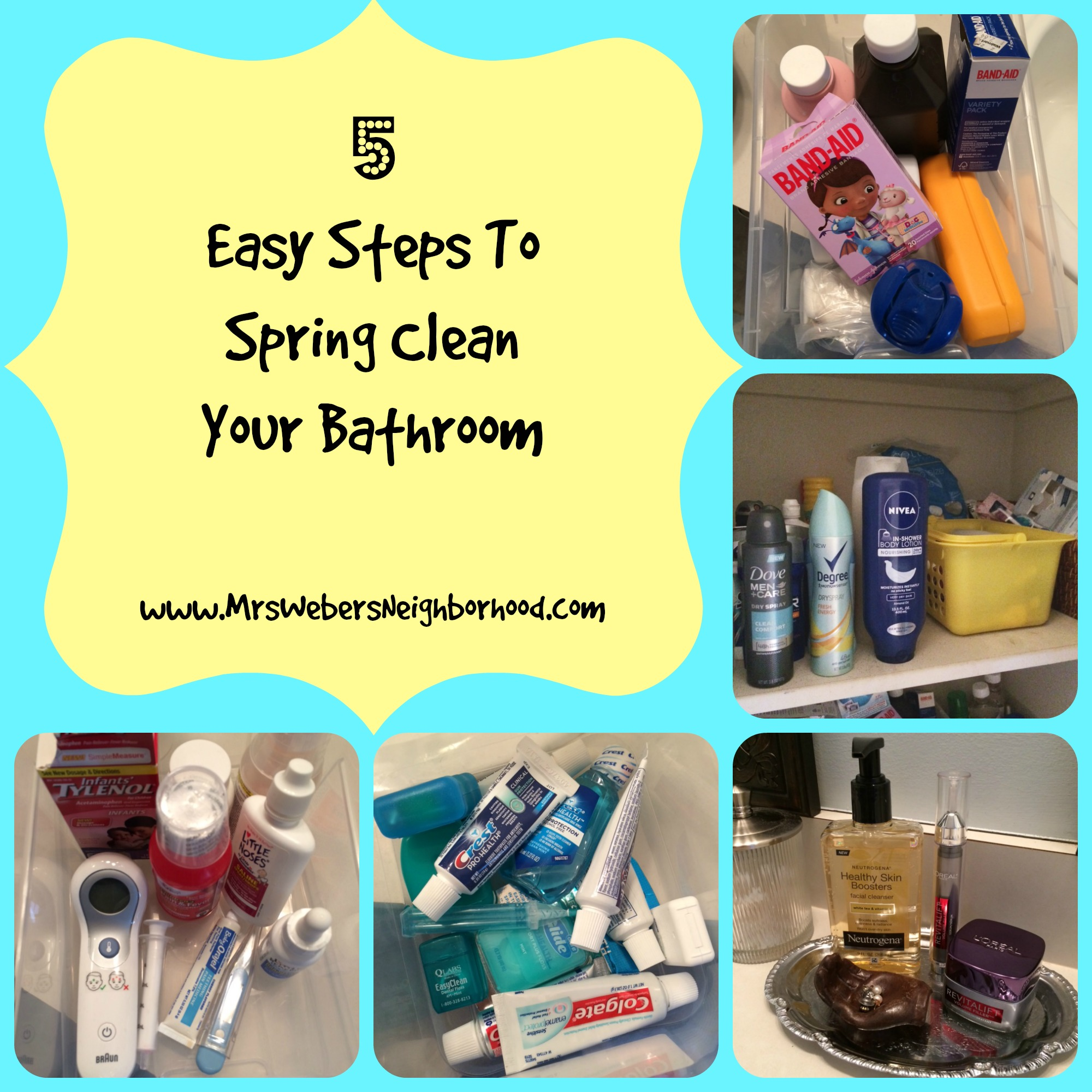 5 Easy Steps To Spring Clean Your Bathroom Mrs Weber 39 S Neighborhood