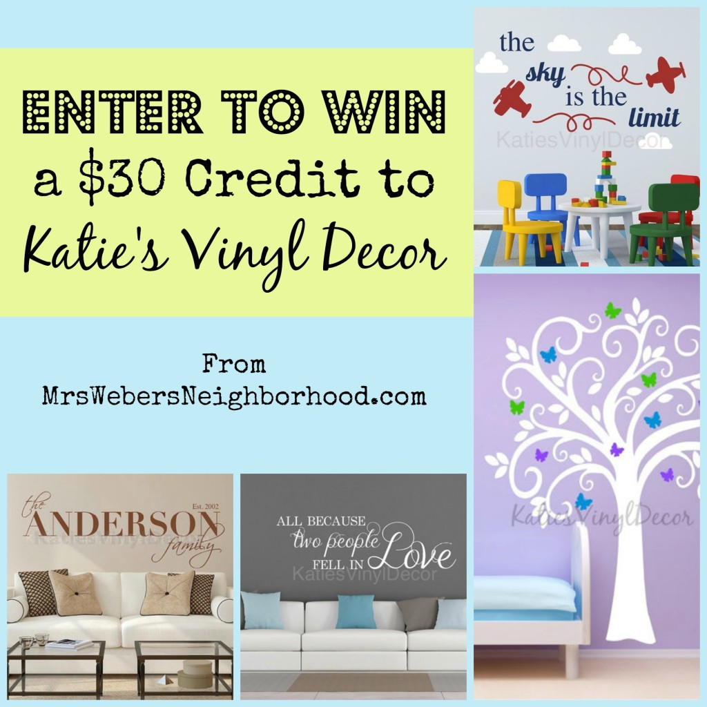 Katie's Vinyl Decor Giveaway