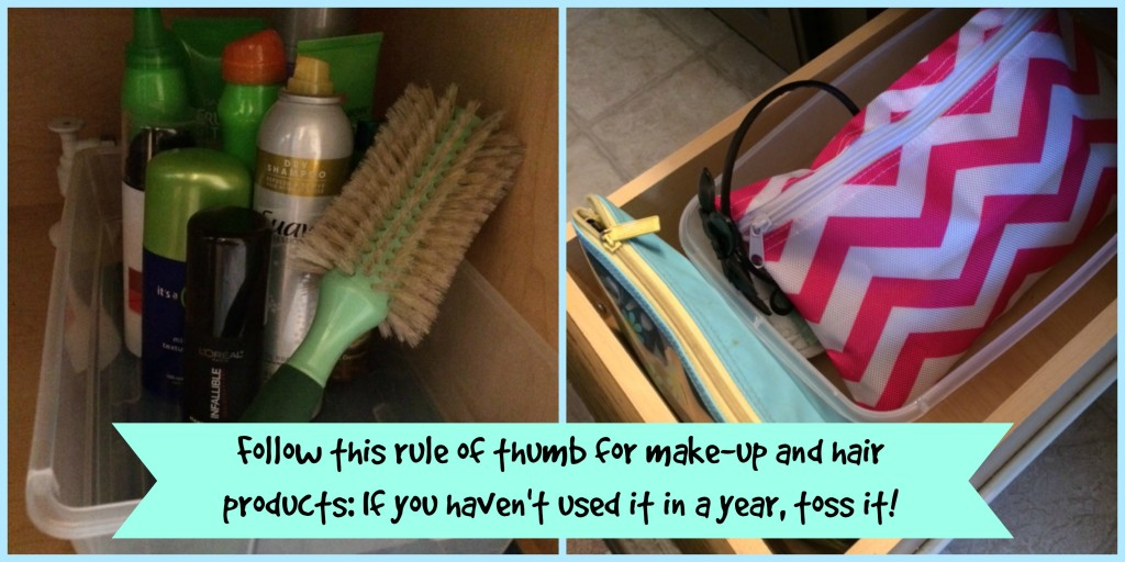 Spring Cleaning Bathroom - Hair and Make-up Tip