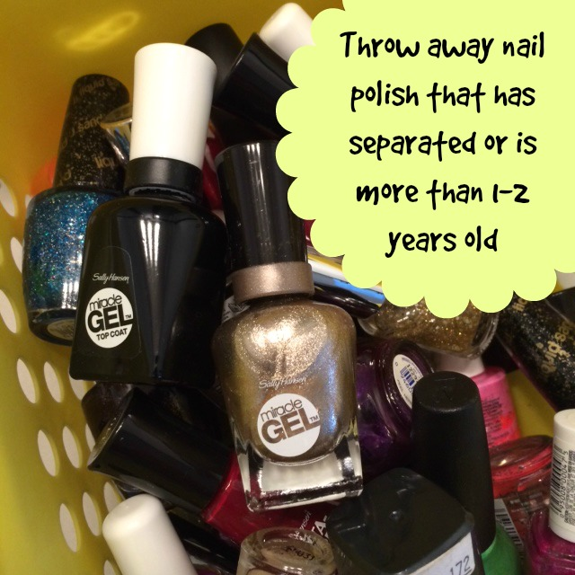 Spring Cleaning Bathroom Tips - Nail Polish