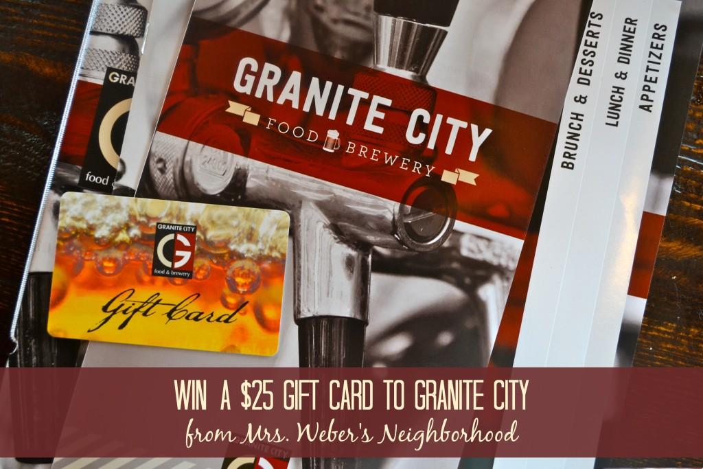 Granite City Giveaway