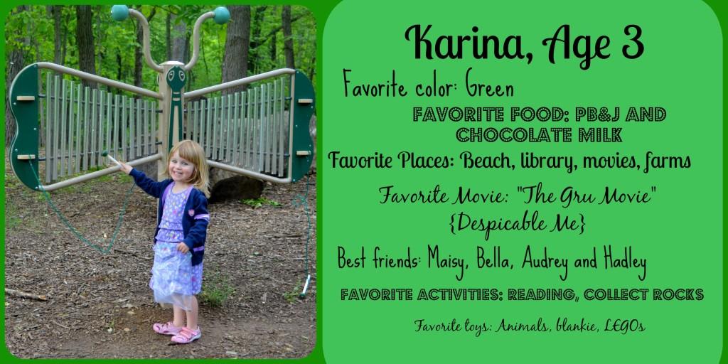 Karina Age 3