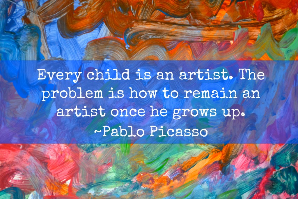 Picasso Quote - Every child is an artist