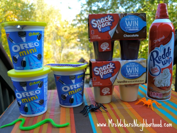 Pumpkin Patch Dirt Cup Supplies