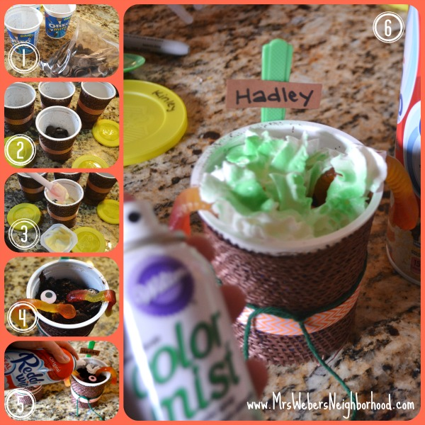 Pumpkin Patch Dirt Cups Steps