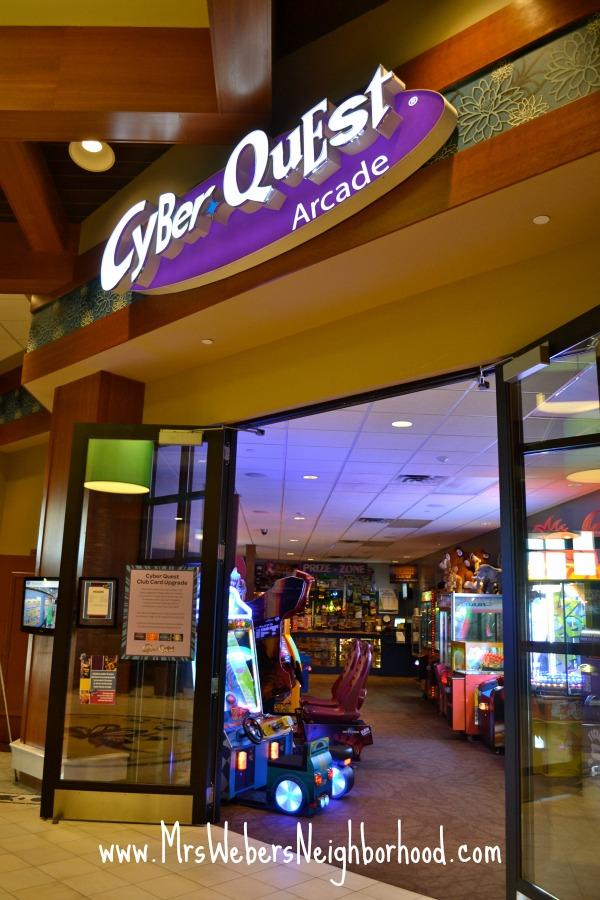 Cyber Quest Arcade inside Soaring Eagle Waterpark
