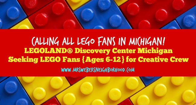LEGOLAND® Discovery Center Michigan Seeking LEGO fans for Creative Crew