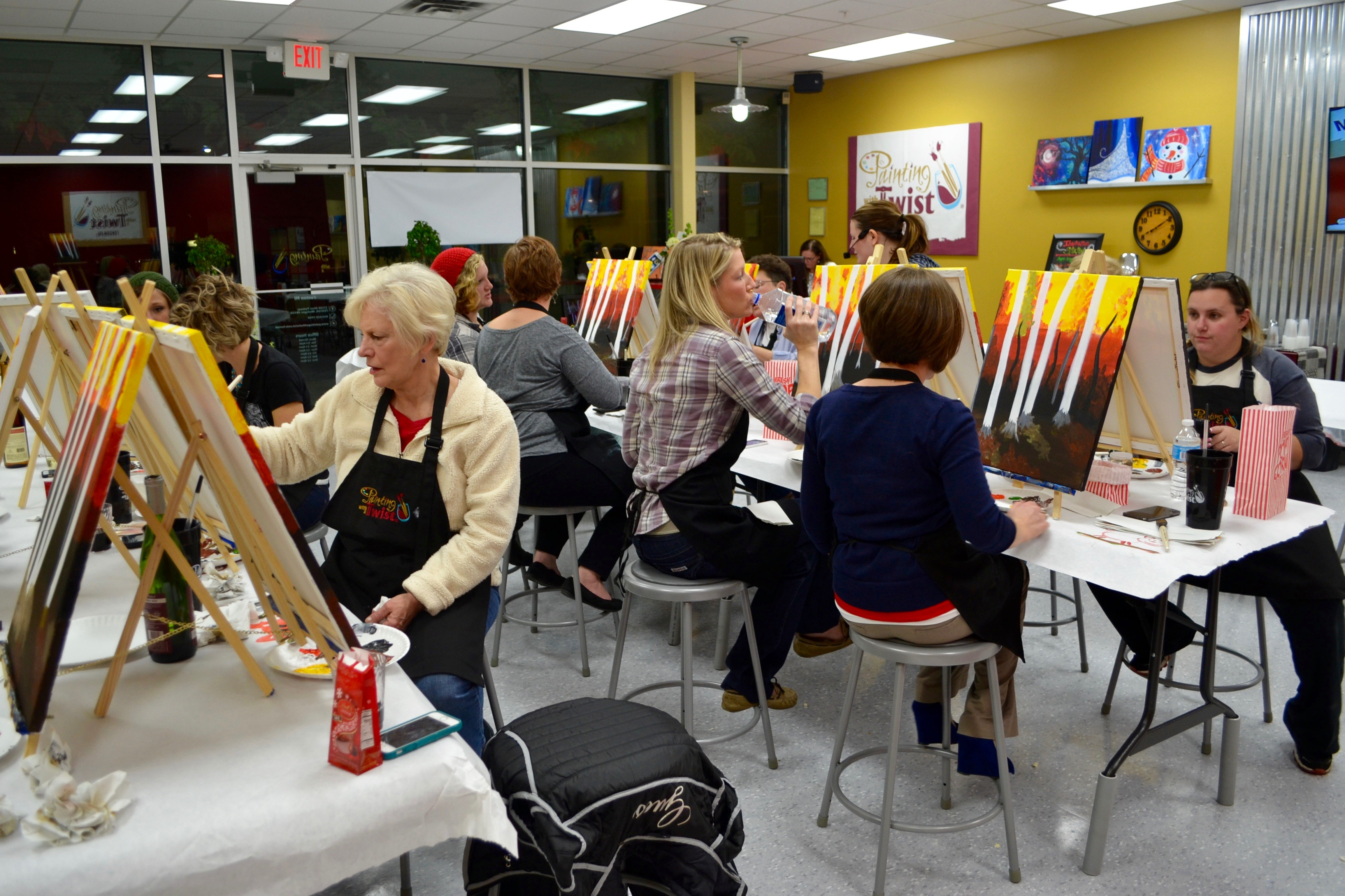 painting with a twist in fenton now open giveaway