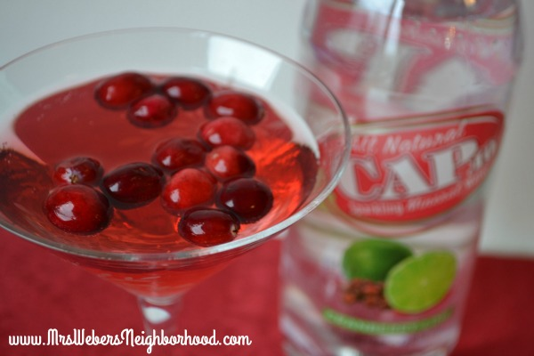Cranberry Lime Martini with Cap10