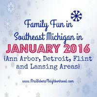 Family Fun in Southeast Michigan in January 2016 - Ann Arbor, Detroit, Flint and Lansing Areas