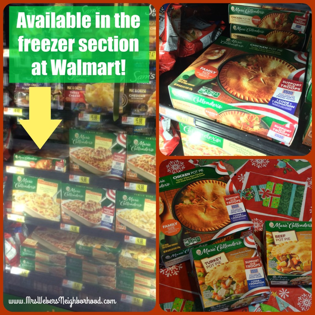 Marie Callender Pot Pies at Walmart