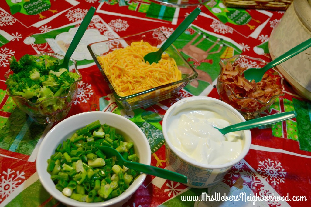 Mashed Potato Bar Toppings
