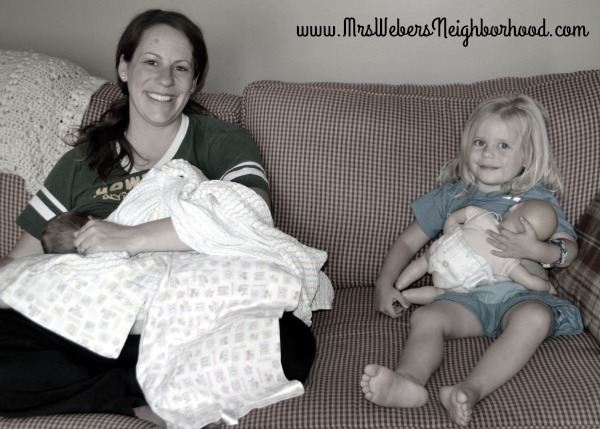 Breastfeeding Mom and Daughter
