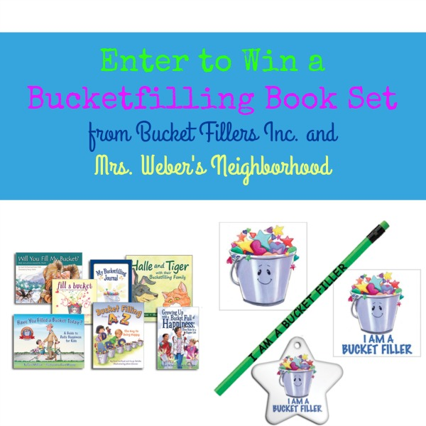 Bucketfilling Book Set Giveaway with Mrs. Weber's Neighborhood