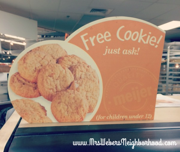 Free Cookie for kids at Meijer