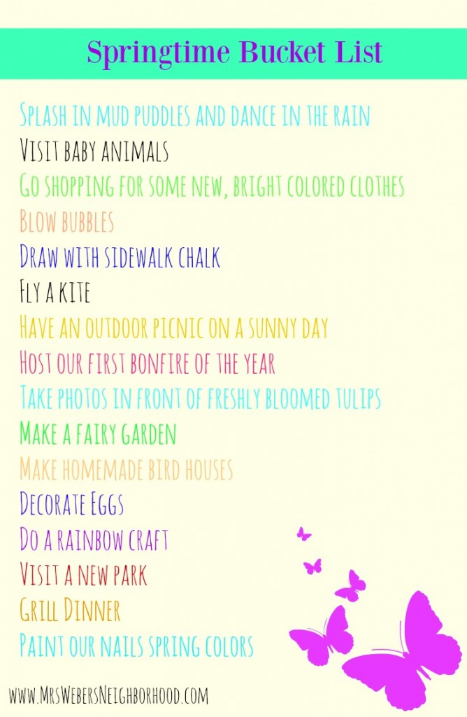 Springtime Bucket List