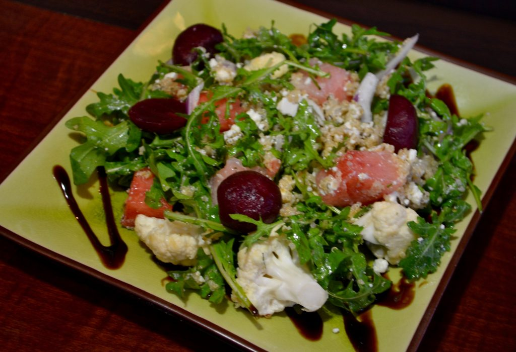 Watermelon Beet Salad at Aubree's Pizzeria