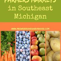 Farmers Markets in Southeast Michigan