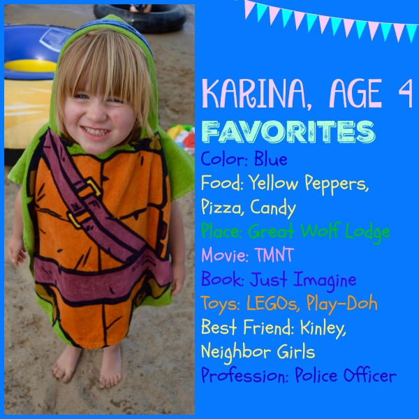 Karina is 4