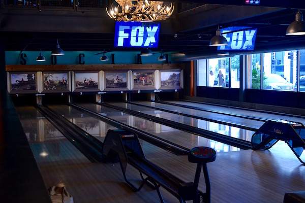 Bowling at Punch Bowl Social Detroit