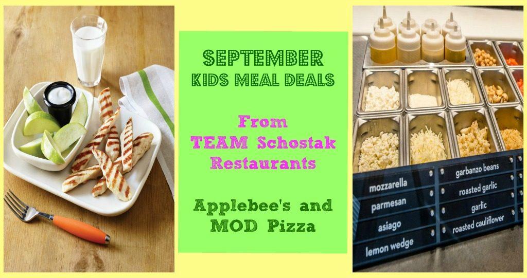 September Kids Meal Deals